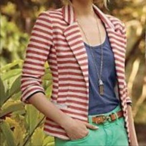 Anthropologie Cartonnier Striped Terry Blazer